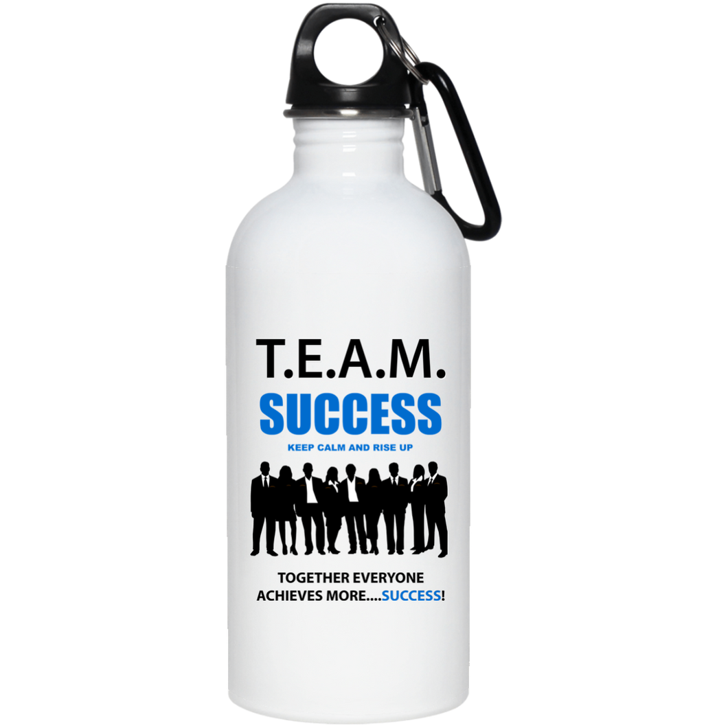 T.E.A.M. SUCCESS - RISE UP 20 oz. Stainless Steel Water Bottle