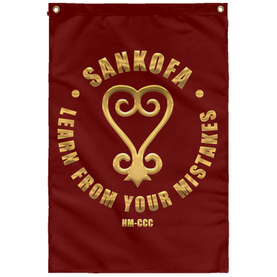 SANKOFA - LEARN FROM YOUR MISTAKES Wall Flag (various colors)