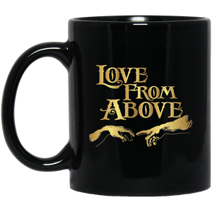 LOVE FROM ABOVE [GOLD] 11 oz. Black Mug