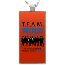 T.E.A.M. SUCCESS - RISE UP Rectangle Necklace (various colors)