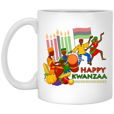 HAPPY KWANZAA CELEBRATION 11 oz. White Mug