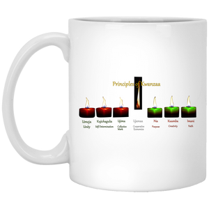 PRINCIPLES OF KWANZAA  11 oz. White Mug