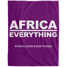AFRICA OVER EVERYTHING Extra Large Velveteen Micro Fleece Blanket - 60x80 (various colors)
