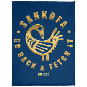 SANKOFA - GO BACK & FETCH IT Baby Velveteen Micro Fleece Blanket - 30x40 (various colors)