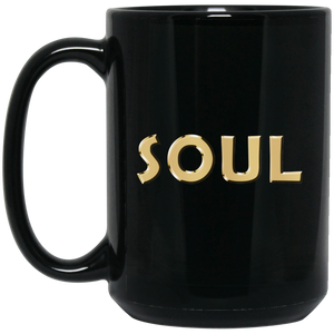 SOUL [GOLD] 15 oz. Black Mug