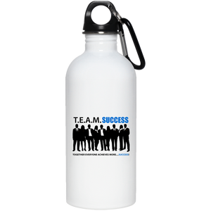 T.E.A.M. SUCCESS 20 oz. Stainless Steel Water Bottle