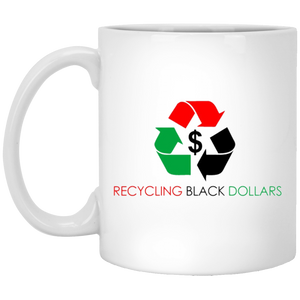 RECYCLING BLACK DOLLARS 11 oz. White Mug