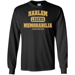 HARLEM MEMORABILIA LS [GOLD] - WASHINGTON 5 [2 Sided]