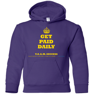 GET PAID DAILY [CROWN] Youth Pullover Hoodie (various colors)