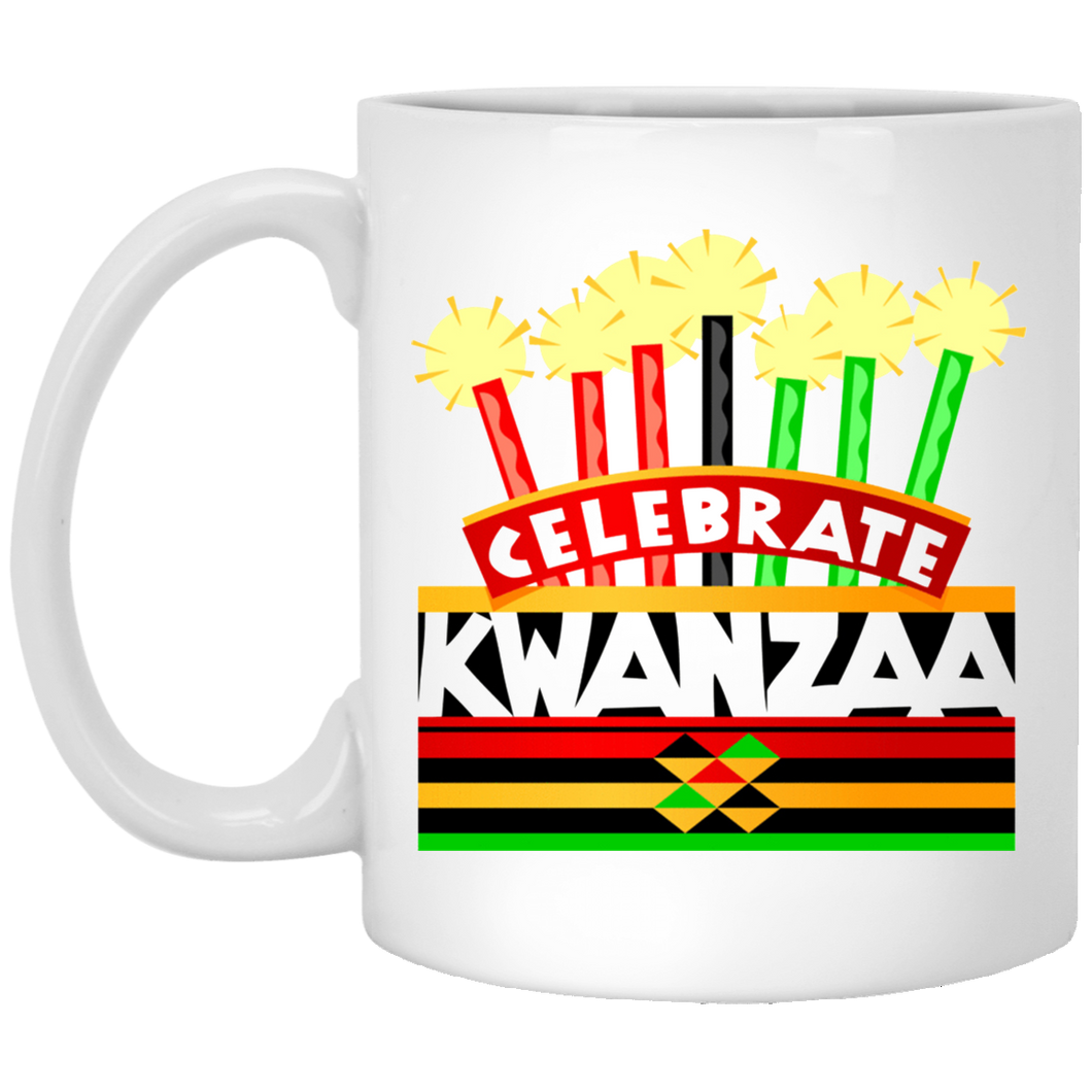 CELEBRATE KWANZAA  11 oz. White Mug