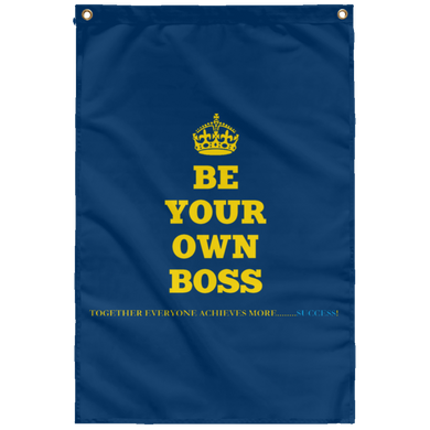 BE YOUR OWN BOSS [CROWN] Wall Flag (various colors)