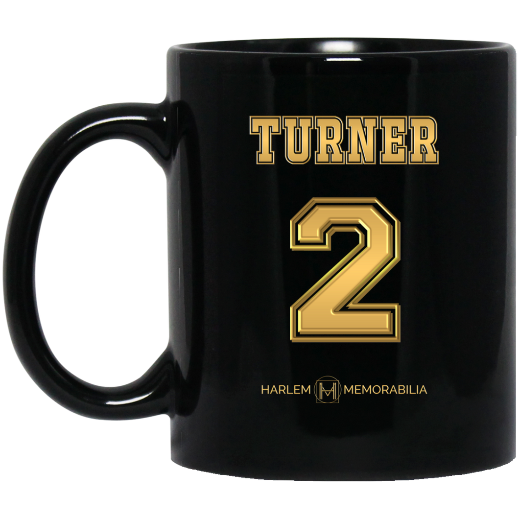 HARLEM MEMORABILIA [GOLD] - TURNER 2 11 oz. Black Mug