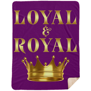 LOYAL AND ROYAL Extra Large Fleece Sherpa Blanket - 60x80 (various colors)