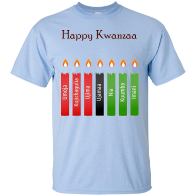 HAPPY KWANZAA 7 PRINCIPLES (various colors)
