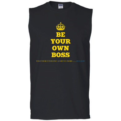 BE YOUR OWN BOSS [CROWN] Men's Sleeveless T-Shirt