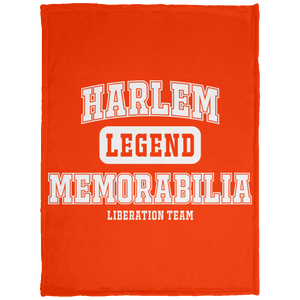 HARLEM MEMORABILIA [LEGEND] Baby Velveteen Micro Fleece Blanket - 30x40 (various colors)