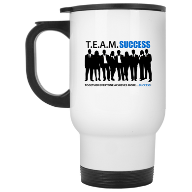 T.E.A.M. SUCCESS White Travel Mug