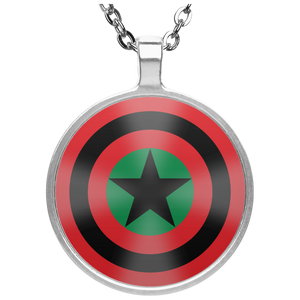 BLACK STAR SHIELD [GLOW] Necklace