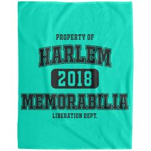 HARLEM MEMORABILIA [LIBERATION DEPT.] Extra Large Velveteen Micro Fleece Blanket - 60x80 (various colors)