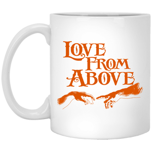 LOVE FROM ABOVE [BRONZE] 11 oz. White Mug