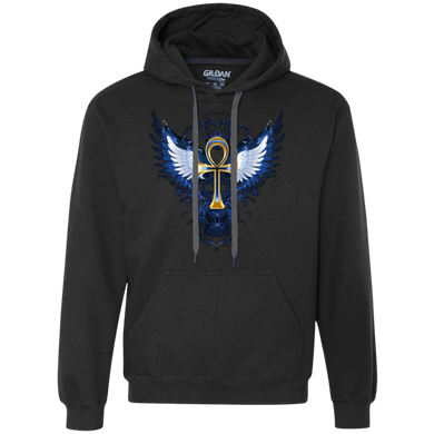 ANKH WITH WINGS Heavyweight Pullover Fleece Sweatshirt (various colors)