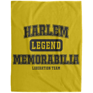 HARLEM MEMORABILIA Extra Large Velveteen Micro Fleece Blanket - 60x80 (various colors)