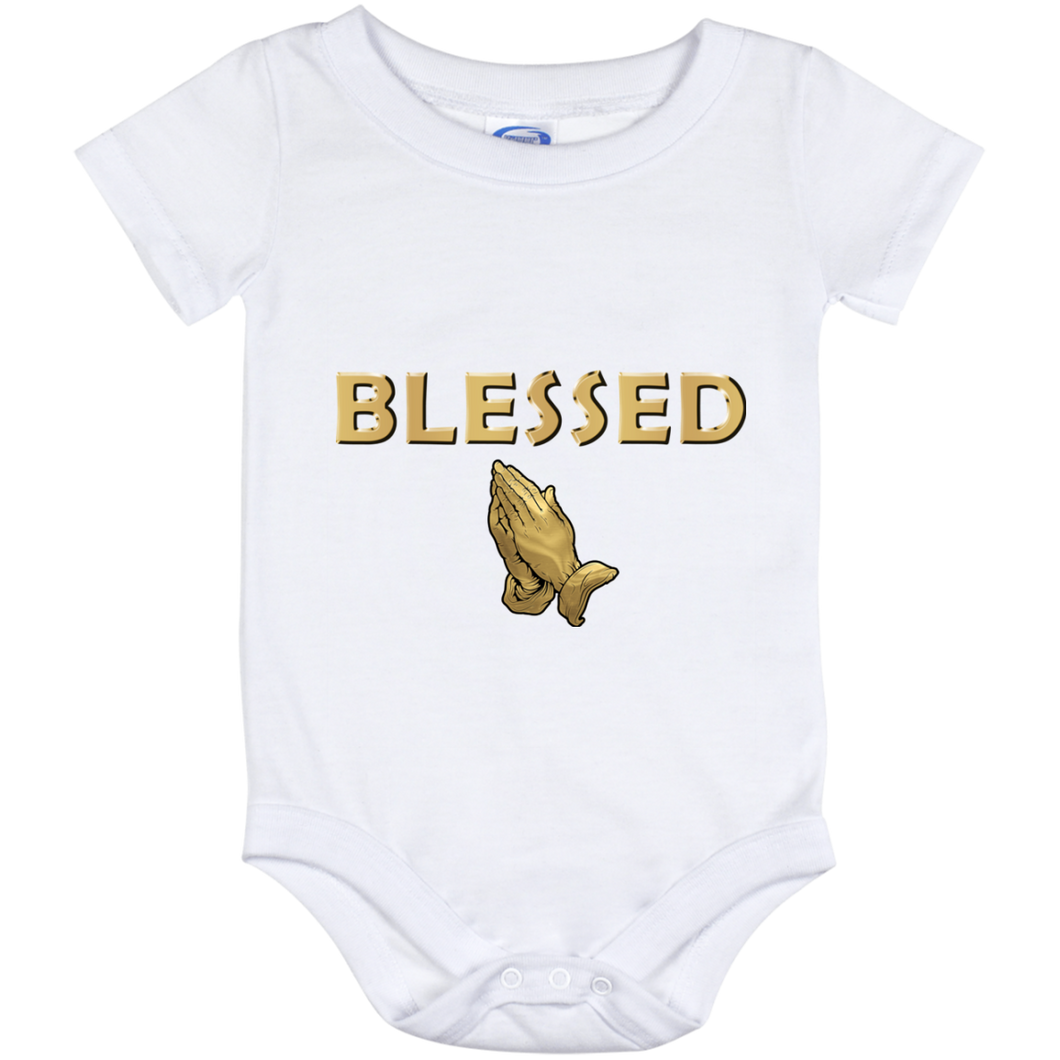 BLESSED WITH PRAYER HANDS Baby Onesie 12 Month