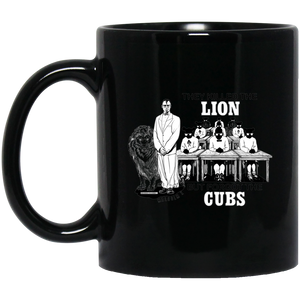 MALCOLM X - LION AND CUBS 11 oz. Black Mug