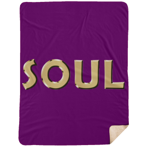 SOUL Extra Large Fleece Sherpa Blanket - 60x80 (various colors)