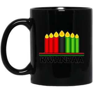 KWANZAA CANDLES 11 oz. Black Mug