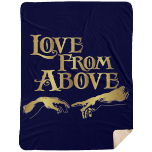 LOVE FROM ABOVE  Extra Large Fleece Sherpa Blanket - 60x80 (various colors)