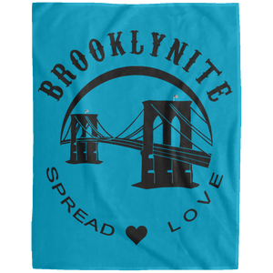BROOKLYNITE [SPREAD LOVE] Extra Large Velveteen Micro Fleece Blanket - 60x80 (various colors)