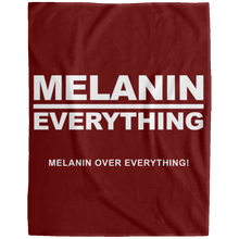 MELANIN OVER EVERYTHING Extra Large Velveteen Micro Fleece Blanket - 60x80 (various colors)