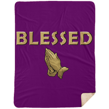 BLESSED WITH PRAYER HANDS Extra Large Fleece Sherpa Blanket - 60x80 (various colors)