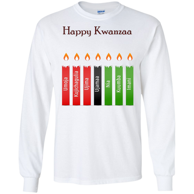 HAPPY KWANZAA 7 PRINCIPLES LS (various colors)