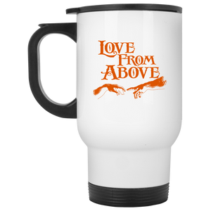 LOVE FROM ABOVE [BRONZE] White Travel Mug