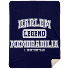HARLEM MEMORABILIA [LEGEND] Extra Large Fleece Sherpa Blanket - 60x80 (various colors)