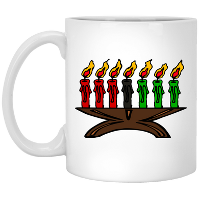 7 LIT CANDLES 11 oz. White Mug