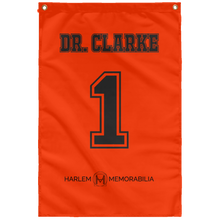 DR. CLARKE 1 Wall Flag (various colors)