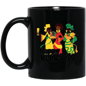 HAPPY KWANZAA SISTERS 11 oz. Black Mug