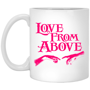 LOVE FROM ABOVE [PINK] 11 oz. White Mug