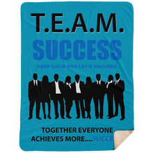 T.E.A.M. SUCCESS [LET'S SUCCEED] Extra Large Premium Sherpa Blanket - 60x80 (various colors)