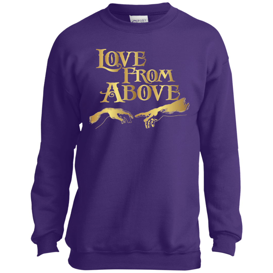 LOVE FROM ABOVE [GOLD] Youth Crewneck Sweatshirt (various colors)