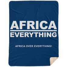 AFRICA OVER EVERYTHING Extra Large Fleece Sherpa Blanket - 60x80 (various colors)