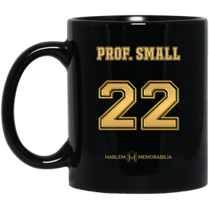 HARLEM MEMORABILIA [GOLD] - PROF. SMALL 22 11 oz. Black Mug