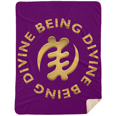 DIVINE BEING BEING DIVINE Extra Large Fleece Sherpa Blanket - 60x80 (various colors)