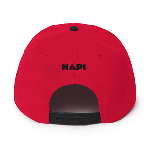 HAPI [BLACK] Snapback Hat [Embroidered]