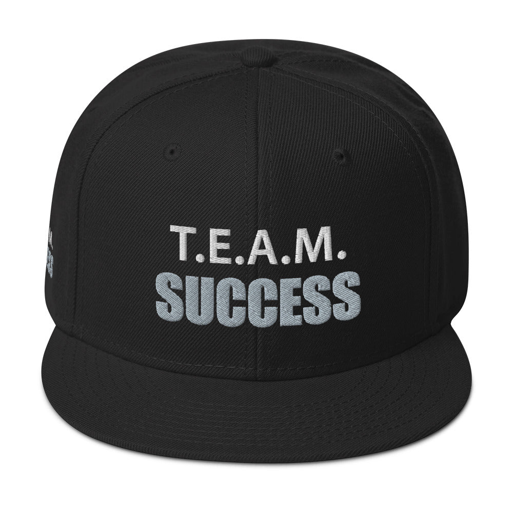 T.E.A.M. SUCCESS [PLATINUM] Snapback Hat [Embroidered]