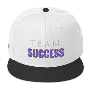 T.E.A.M. SUCCESS [PURPLE] Snapback Hat [Embroidered]