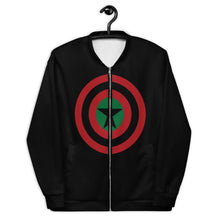 BLACK STAR SHIELD Unisex Bomber Jacket